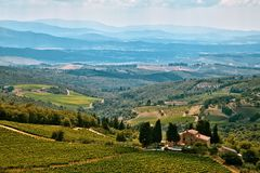 Rural landscape in Tuscany Royalty Free Stock Photos