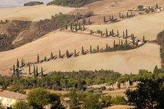 The rural landscape of the  Tuscany. Italy Stock Image