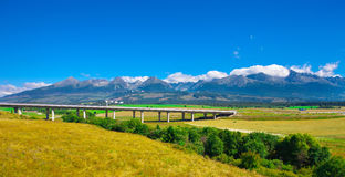 Rural landscape under clear sky, Slovakia Royalty Free Stock Images