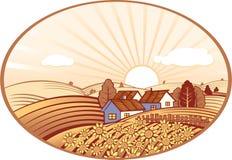Rural landscape. Royalty Free Stock Image