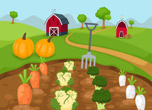Rural landscape vector Stock Image
