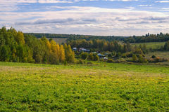 Rural landscape with village Royalty Free Stock Photography