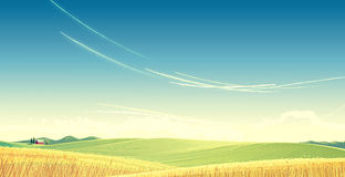 Rural landscape. Royalty Free Stock Photos
