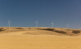 Rural landscape with wind generators. South Australia. Royalty Free Stock Photography
