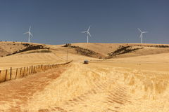 Rural landscape with wind generators. South Australia Stock Images