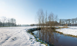 Rural landscape in wintertime Stock Images