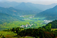 Rural landscape in Wuyuan, China. Royalty Free Stock Photo