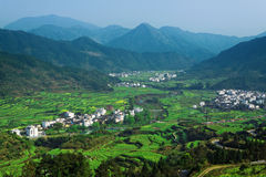 Rural landscape in wuyuan county Stock Photography