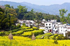 Rural landscape in Wuyuan, Jiangxi Province, China. Royalty Free Stock Photography
