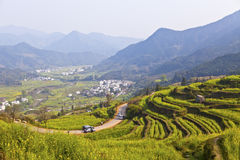 Rural landscape in Wuyuan, Jiangxi Province, China. Stock Images