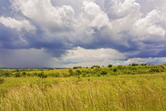 Rural landscape in Zambia Royalty Free Stock Photo