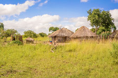 Rural landscape in Zambia Stock Photo