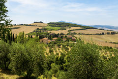 Rural landscapes of beautiful Tuscany, Italy Royalty Free Stock Image