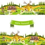Rural landscapes vector illustration Stock Photos