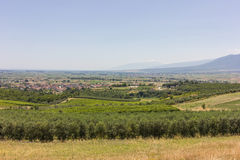Rural lanscape of Greece Stock Photo