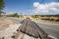Rural Level Crossing Stock Photography