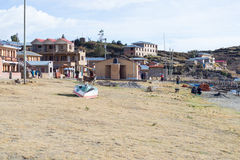 Rural life on Island of the Sun, Titicaca Lake, Bolivia Royalty Free Stock Photos
