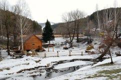 Rural Life Museum 'Watermill'. Located in the resort area of Belokurikha, Altai Krai, Russia Royalty Free Stock Image