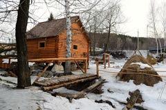 Rural Life Museum 'Watermill'. Located in the resort area of Belokurikha, Altai Krai, Russia Stock Images