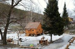 Rural Life Museum 'Watermill'. Located in the resort area of Belokurikha, Altai Krai, Russia Stock Photo