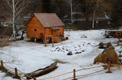 Rural Life Museum 'Watermill'. Located in the resort area of Belokurikha, Altai Krai, Russia Royalty Free Stock Photo
