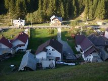 Romanian village posed from above royalty free stock photo