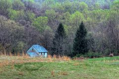 Rural Living. Little white rural house in Pennsylvania royalty free stock photography