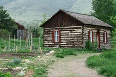 Rural Log Cabin Royalty Free Stock Photography