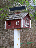 Rural mail box. On a rusty metal post royalty free stock photography