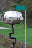 Rural mail box / drum. Rural mail box, made of a metal drum stock photo