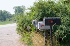 Rural Mail Boxes Royalty Free Stock Photo