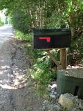 Rural Mailbox. A rural mailbox on a dirt road Royalty Free Stock Photography
