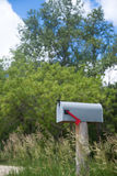 Rural mailbox on an old wooden Royalty Free Stock Images