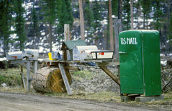 Rural mailboxes Stock Image