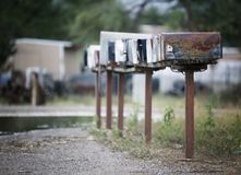 Rural Mailboxes Royalty Free Stock Images
