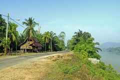 Rural in Malaysia. An image of a rural stilt house in the interior of an Asian country stock photo