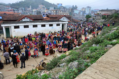 Rural market in Bac Ha market, Vietnam Stock Images