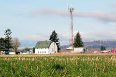 Rural Microwave Tower Royalty Free Stock Photos