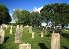 Rural Missouri Cemetery. Old cemetery in rural Missouri along the Missouri river bluffs Royalty Free Stock Photography