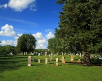 Rural Missouri Cemetery. Old cemetery in rural Missouri along the Missouri river bluffs Stock Photography