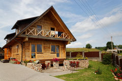 Rural modern hotel Stock Image