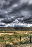 Rural Montana. Scenic views of rural Montana farm country under stormy skies Royalty Free Stock Photography