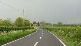 Rural motorbiker Stock Photography
