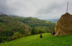 Rural mountain area in Romania Royalty Free Stock Photos