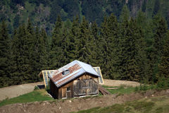 Rural mountain chalet Stock Images