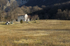 Rural mountain house Royalty Free Stock Images