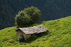 Rural mountain house. Italian Rural mountain house on the Alps Royalty Free Stock Image