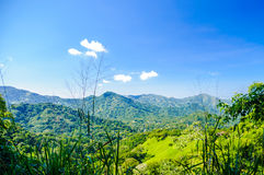 Rural mountain landscape by Minca in Colombia. View on mountain landscape by Minca in Colombia royalty free stock images
