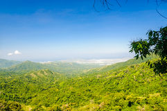 Rural mountain landscape by Minca with view on Santa Marta royalty free stock photo