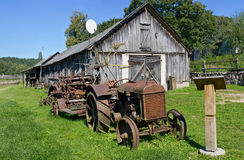 Rural museum of a retro agricultural equipment Royalty Free Stock Photos
